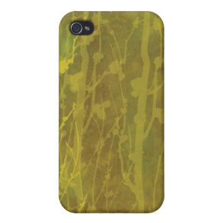 Iphone Cas de la mota de Brown y del oro iPhone 4 Funda