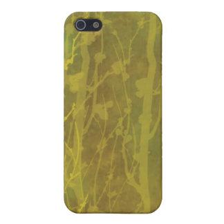 Iphone Cas de la mota de Brown y del oro iPhone 5 Funda