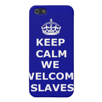 Iphone Case 4/4 Keep Calm We Welcome Slaves