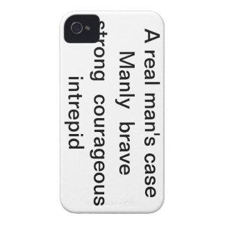 "iphone case ""A real man's case "" Case-Mate iPhone 4 Case"