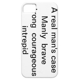 """iphone case """"A real man's case """" iPhone 5 Covers"""