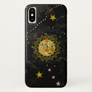 wholesale dealer b029c 5c2fd Iphone Case - Abstract Sun, Moon and Stars