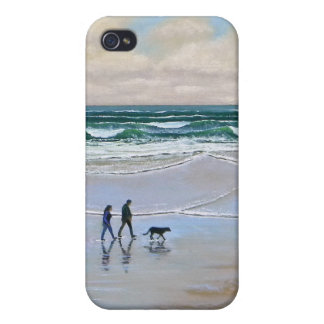 iPhone Case ~ Beach Dog Walk Cover For iPhone 4