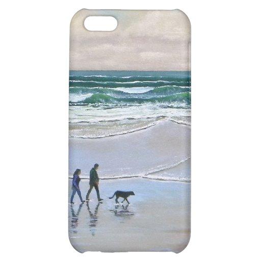 iPhone Case ~ Beach Dog Walk Case For iPhone 5C