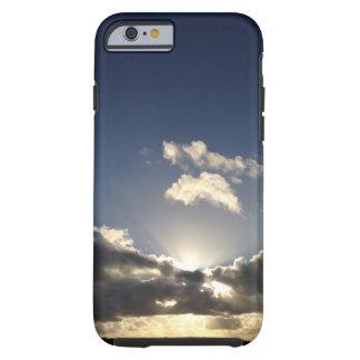 iphone case beautiful rural sunset cloud scene.