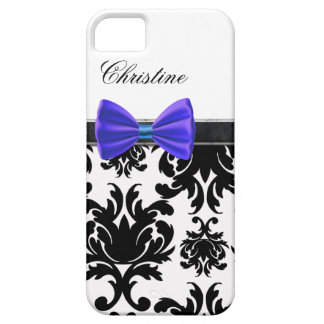 iPhone Case Blue Bow Monogrammed iPhone 5 Covers