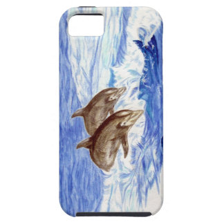 iPhone Case decorated with Dolphins Watercolor
