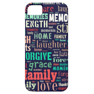 iphone case- family word art iPhone 5 cases