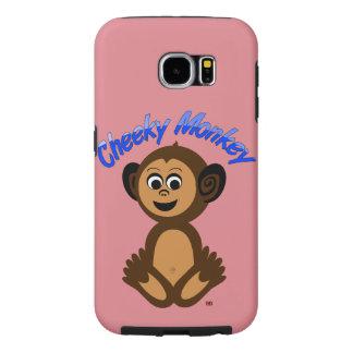 "iPhone Case, Graphic Design ""CHEEKY MONKEY"" Samsung Galaxy S6 Case"