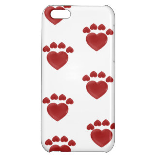 iphone case - heart paw prints
