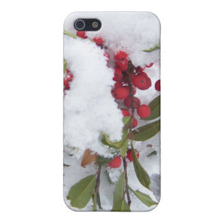 Iphone case Holly berries in the snow