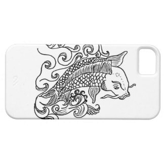 iPhone case Koi fish Black/White iPhone 5 Cover