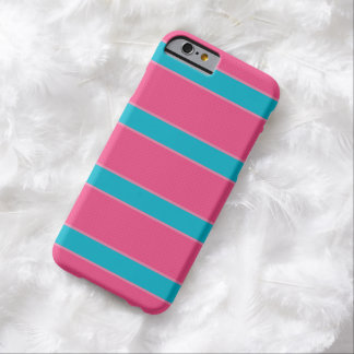 Iphone Case - Líneas Rosa y Azul Funda Para iPhone 6 Barely There