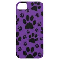 iphone case, Purple paw prints, pet, animal iPhone SE/5/5s Case