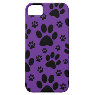 iphone case, Purple paw prints, pet, animal iPhone SE/5/5s Case