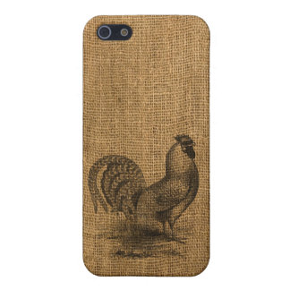 iPhone Case Rustic Burlap Rooster