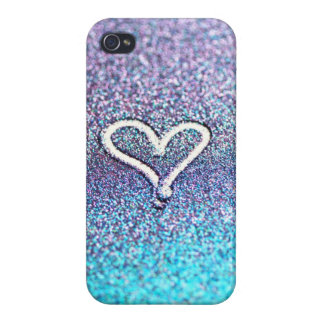 iphone case, Samsung - glitter heart-photograph iPhone 4 Case