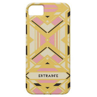 iPhone case SE/5/5s (Gold) [Art Deco]