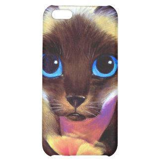 iPhone Case Siamese Cat Painting Art iPhone 5C Case