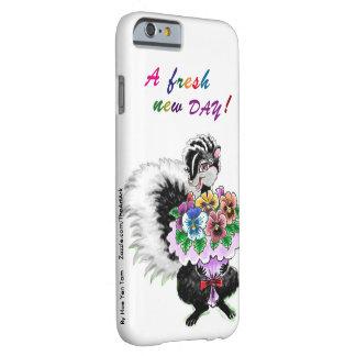 iPhone case - Skunk with Pansies