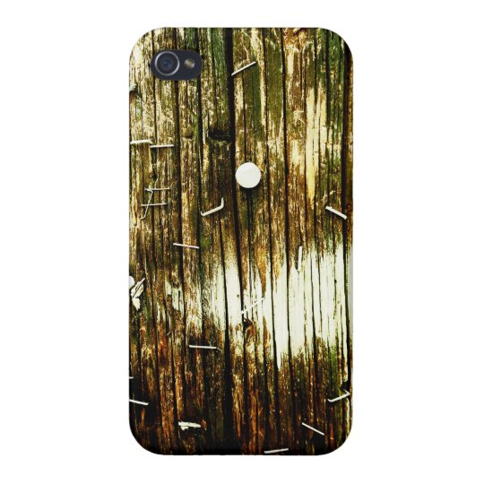 iPhone Case: Urban Yellow Wood iPhone 4 Case