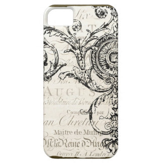 iPhone Case Vintage Ephemera French Script iPhone 5 Cover