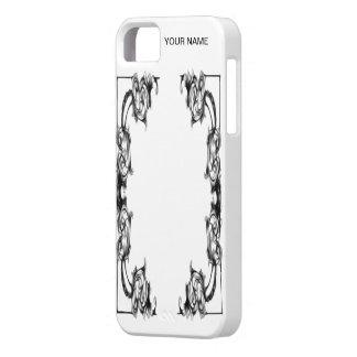 iphone case VINTAGE FLORAL BLACK AND WHITE DAMASK