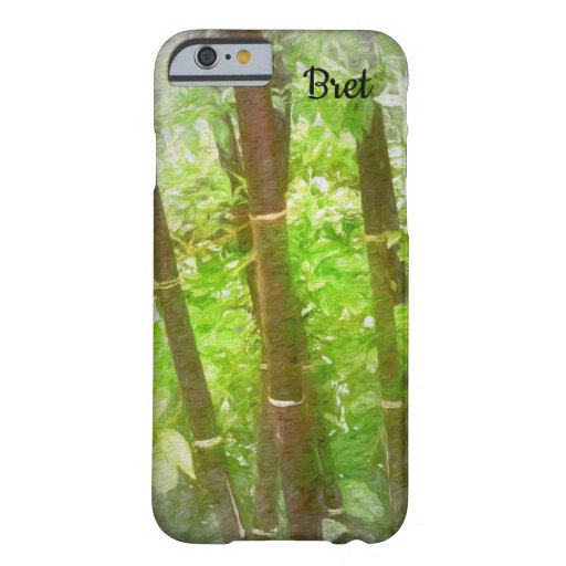 iPhone Case with Bamboo Wooded Design
