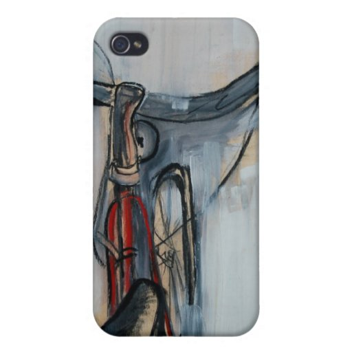 iphone case with bike art iPhone 4 covers