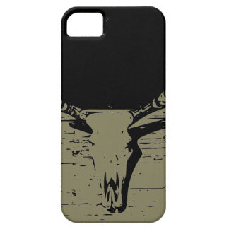 iphone case with cow skull