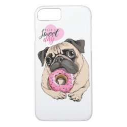 Case-Mate Barely There iPhone 7 Case with Pug Phone Cases design
