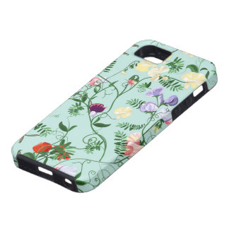 iPhone case  with decorative sweet pea flowers