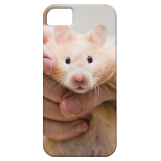 iPhone case with hamster in hand