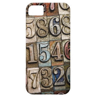 iPhone Case with Letterpress Number design
