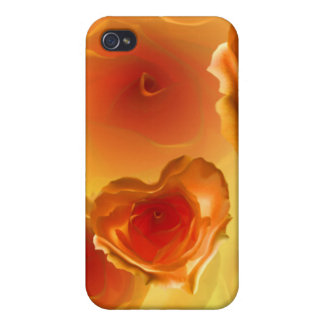 iPhone case with lovely heart shaped orange rose