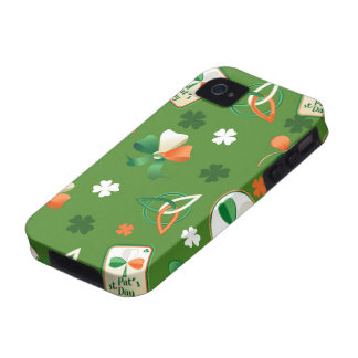 iPhone case with shamrock patterns Case-Mate iPhone 4 Cases