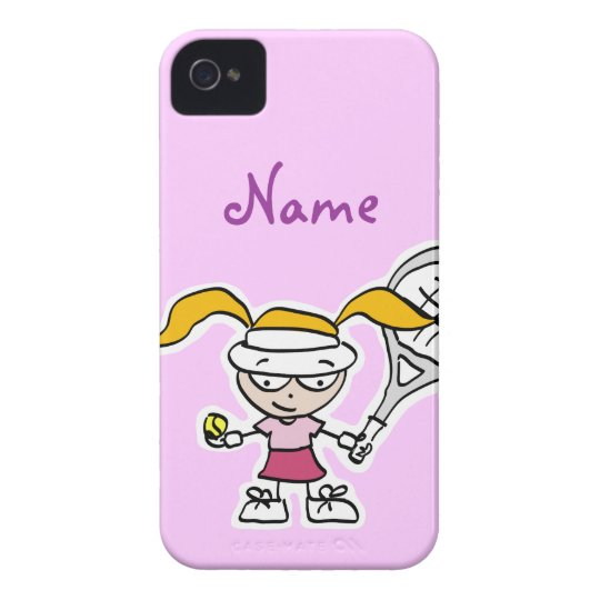 iphone case with tennis girl cartoon