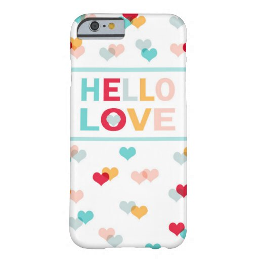 iPhone Cases - Hello Love & Hearts