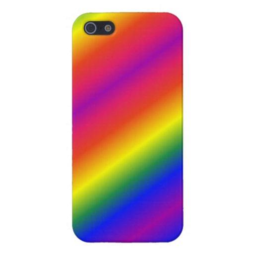iPhone caso brillante/mate de 5/5s del arco iris iPhone 5 Carcasa