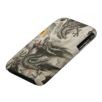 iPhone chino 3G, de la pintura del dragón caso 3S iPhone 3 Case-Mate Protectores