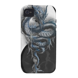 iPhone chino 4 Barely There del dragón de Yin Yang