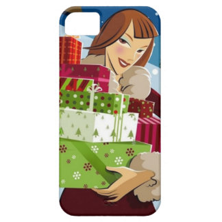 iPhone Christmas shopping girl iPhone SE/5/5s Case