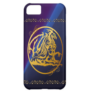 iPhone circundado dragón del oro 5 casos Funda Para iPhone 5C