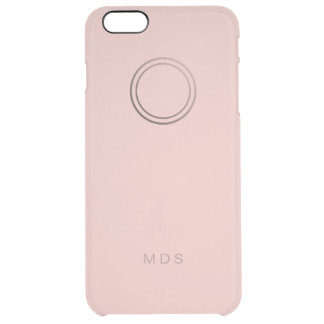 iPhone claro color de rosa rosado personalizado Funda Clearly™ Deflector Para iPhone 6 Plus De Unc