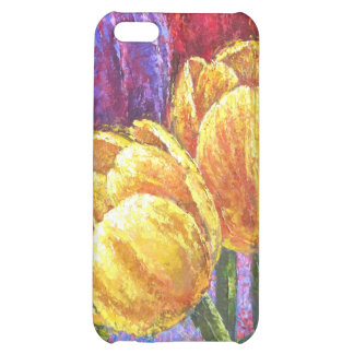 iPhone Colorful Tulips Painting Art Case For iPhone 5C