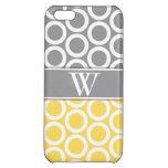 iPhone con monograma de moda amarillo y gris 5