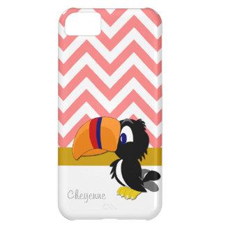 iPhone coralino 5 Barely There de Toucan Chevron