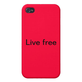 iPhone cover . Live free Cases For iPhone 4