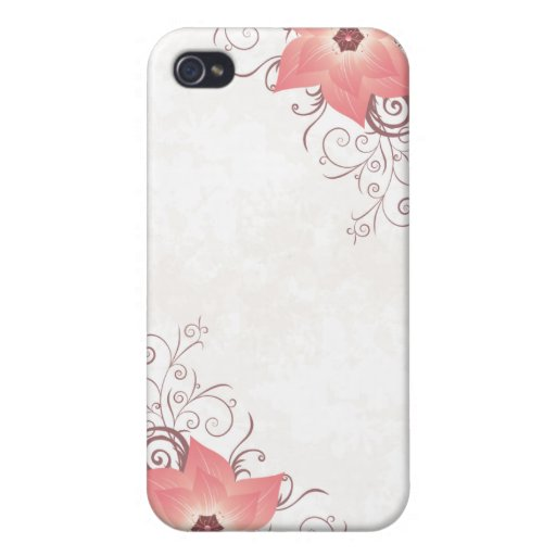 IPhone cover w/pink flower Case For iPhone 4