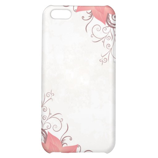 IPhone cover w/pink flower iPhone 5C Cover